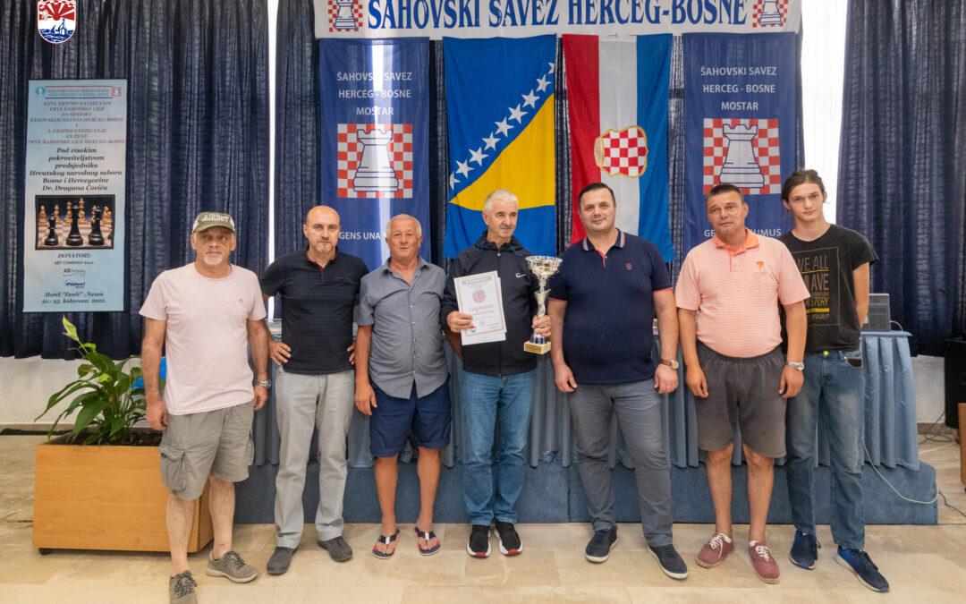 Završeno 26. Ekipno natjecanje Prve šahovske lige Šahovskog saveza Herceg-Bosne