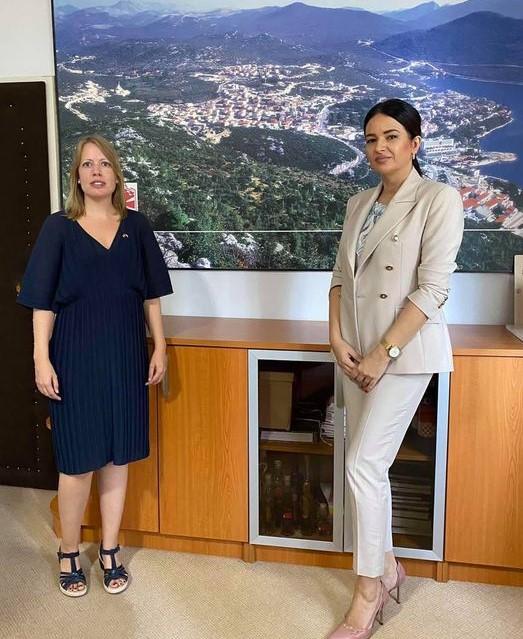 Otpravnica poslova u Veleposlanstvu Kraljevine Norveške u Sarajevu Siri Andersen posjetila Općinu Neum