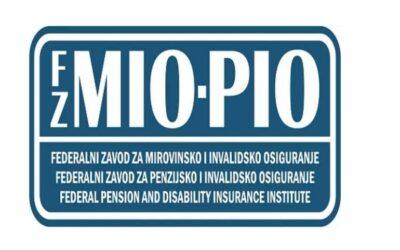JAVNI POZIV- Federalni zavod za mirovinsko i invalidsko osiguranje; Ispostava Neum